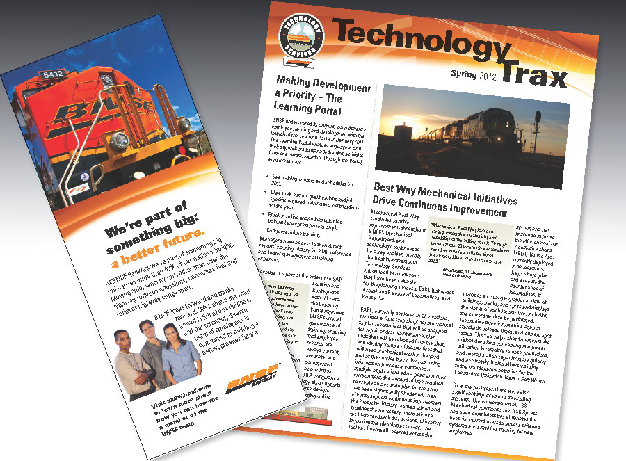 Recruiting Brochure and Newsletter Template for Information Technology/BNSF